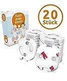 Adlersfeld Steckdosensicherung mit Drehmechanik - Kindersicherung für Steckdose - Steckdosenschutz für Babys und Kinder - Transparent und Hochwertig - Die perfekte Geschenkidee