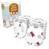 Adlersfeld Steckdosensicherung mit Drehmechanik - 20 Stück - Kindersicherung für Steckdose - Steckdosenschutz für Babys und Kinder - Transparent und Hochwertig