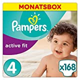 Pampers Active Fit Windeln Monatsbox, Größe 4, 8-16kg x168 Windeln