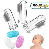 CalMyotis Baby Zahnbürste, Fingerzahnbürste baby, Zahnpflege, Kindermundpflege und Zahnfleischmassage für Babys 0-24 Monate (3 Stück baby toothbrush mit Aufbewahrungsbox)